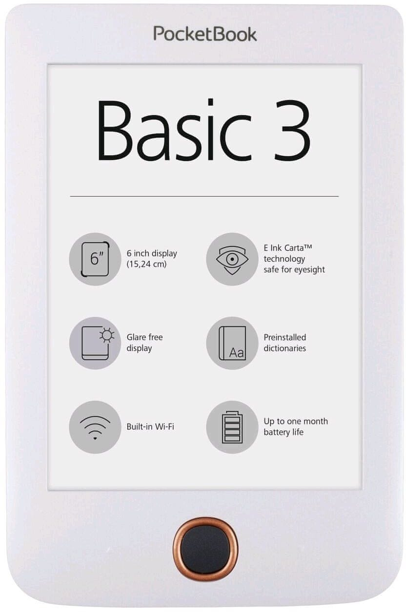Pocket Book 614+ Basic 3 - bílá