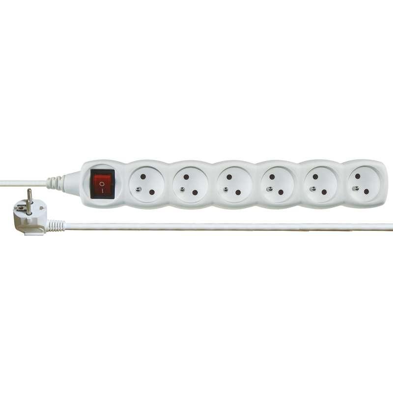 Emos Prodlužovací kabel s vypínačem 6 zásuvky 2m